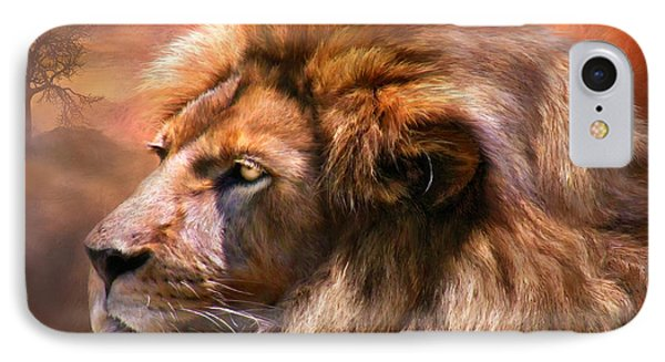 Spirit Of The Lion Phone Case by Carol Cavalaris