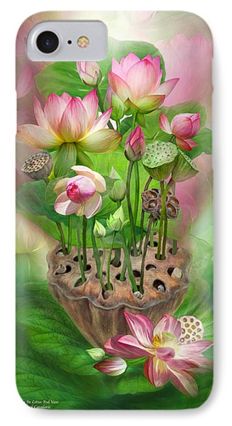 Spirit Of The Lotus Phone Case by Carol Cavalaris
