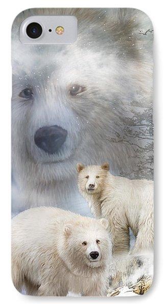 Spirit Of The White Bears IPhone Case by Carol Cavalaris