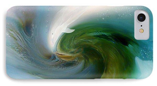 Spirit Of The White Dolphin Phone Case by Carol Cavalaris