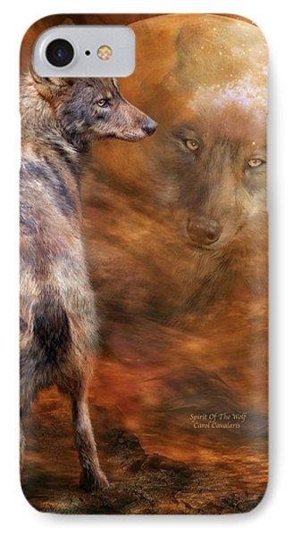 Spirit Of The Wolf Phone Case by Carol Cavalaris