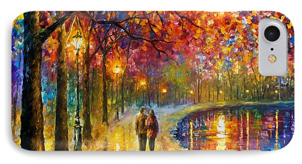 Spirits By The Lake - Palette Knife Oil Painting On Canvas By Leonid Afremov IPhone Case by Leonid Afremov