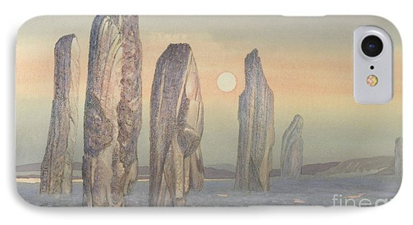 Spirits Of Callanish Isle Of Lewis Phone Case by Evangeline Dickson