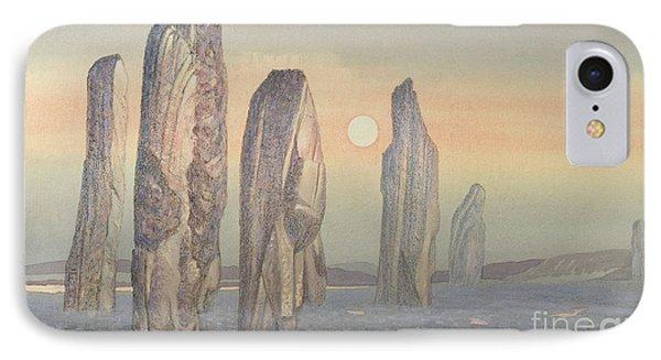 Spirits Of Callanish Isle Of Lewis IPhone Case by Evangeline Dickson