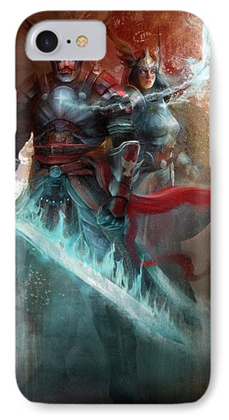 IPhone Case featuring the digital art Spiritual Armor by Steve Goad