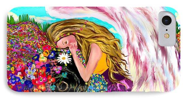 IPhone Case featuring the drawing Spiritual Awakening  by Lori  Lovetere
