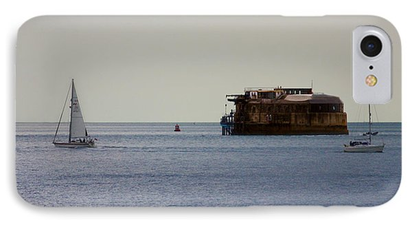 Spitbank Fort Martello Tower IPhone Case by Terri Waters
