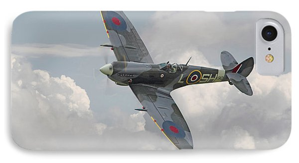 Spitfire - Elegant Icon IPhone Case by Pat Speirs