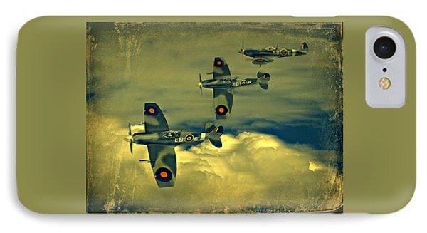 IPhone Case featuring the photograph Spitfire Flight by Steven Agius