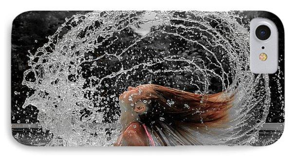 Hair Flip Splash IPhone Case by Brian Caldwell