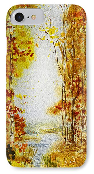 Splash Of Fall IPhone Case by Irina Sztukowski