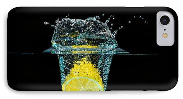 Splashing Lemon IPhone Case by Peter Lakomy