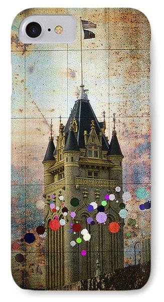 Splattered County Courthouse IPhone Case