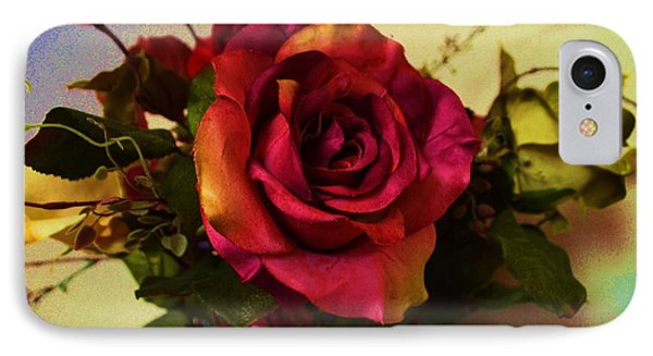 Splendid Painted Rose IPhone Case by Luther Fine Art