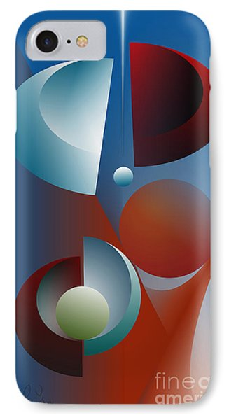 IPhone Case featuring the digital art Split Cycle by Leo Symon