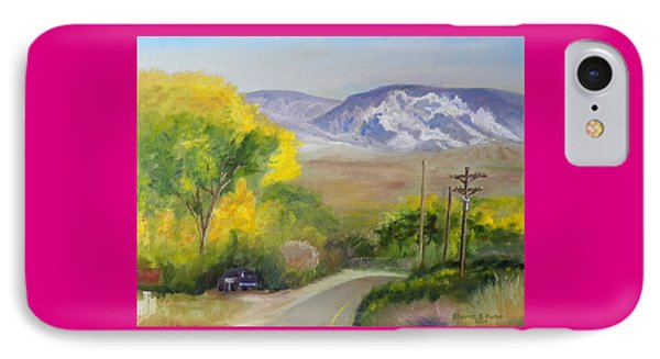 IPhone Case featuring the painting Split Mountain On Golf Course Road by Sherril Porter