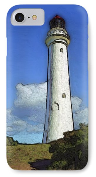 IPhone Case featuring the painting Split Point Lighthouse by Dennis Lundell