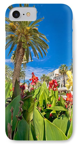 Split Riva Palms And Flowers IPhone Case