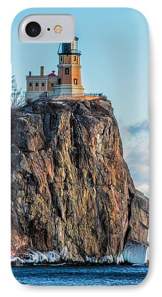 Split Rock Lighthouse In Winter IPhone Case by Paul Freidlund