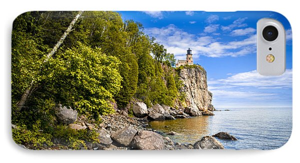 Split Rock Shoreline IPhone Case by Mark David Zahn