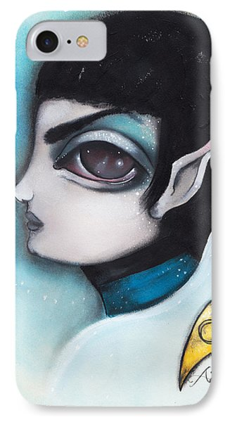 Spock IPhone Case by  Abril Andrade Griffith