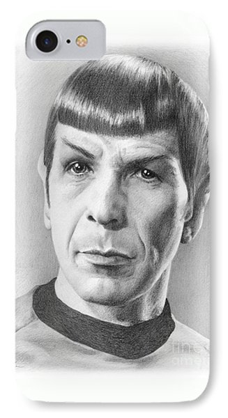 Spock - Fascinating IPhone Case by Liz Molnar