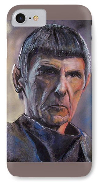 IPhone Case featuring the mixed media Spock by Peter Suhocke