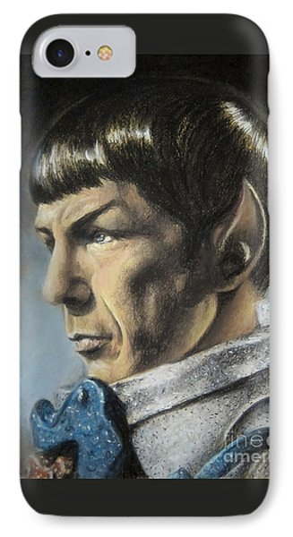 Spock - The Pain Of Loss Phone Case by Liz Molnar
