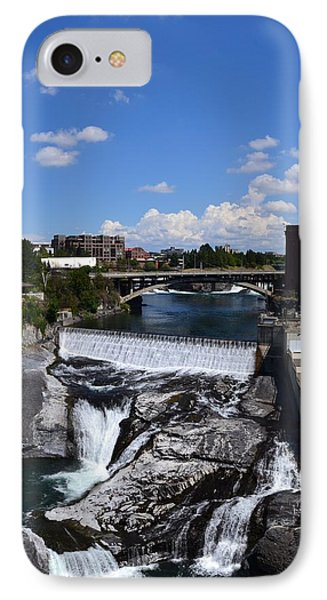 Spokane Falls And Riverfront Phone Case by Michelle Calkins