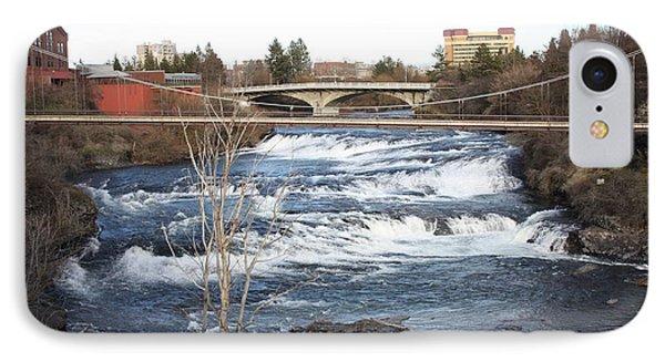 Spokane Falls In Winter Phone Case by Carol Groenen