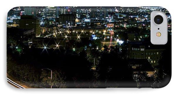 Spokane Washington Skyline At Night Phone Case by Daniel Hagerman