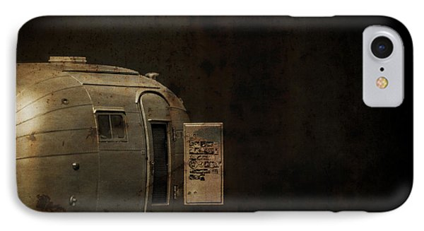 Spooky Airstream Campsite Phone Case by Edward Fielding
