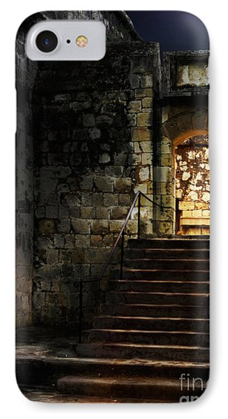 Spooky Backlit Door Way In Moon Light Phone Case by Oleksiy Maksymenko