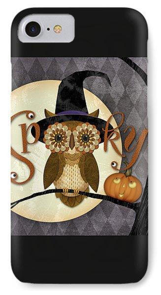 Spooky Owl Phone Case by Valerie Drake Lesiak