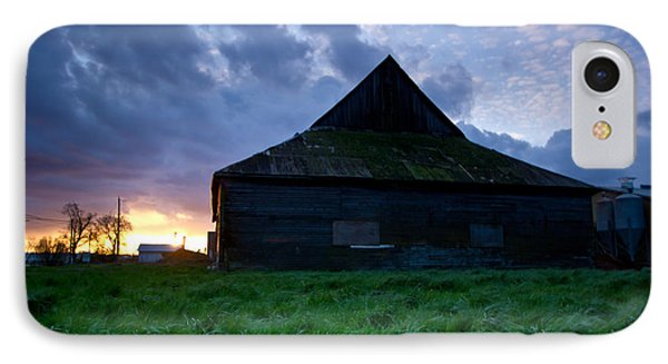 Spooky Shadow Barn Phone Case by Eti Reid