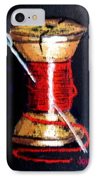 IPhone Case featuring the drawing Spool 2 Red by Joseph Hawkins