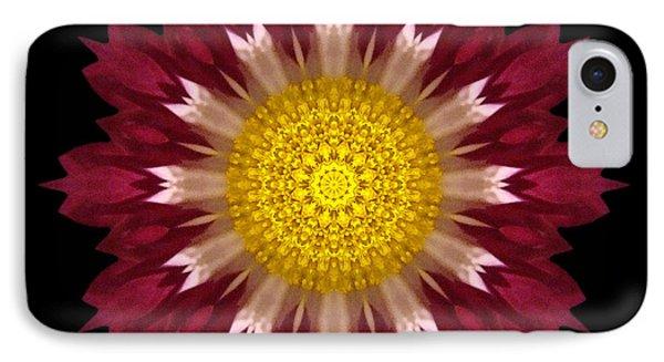 Spoon Chrysanthemum I Flower Mandala Phone Case by David J Bookbinder