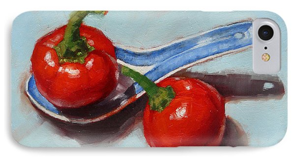 IPhone Case featuring the painting Spoonful Of Chilli by Margaret Stockdale