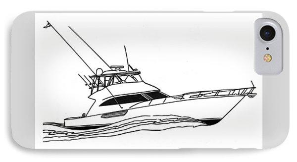 Sport Fishing Yacht Phone Case by Jack Pumphrey