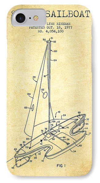 Sport Sailboat Patent From 1977 - Vintage IPhone Case