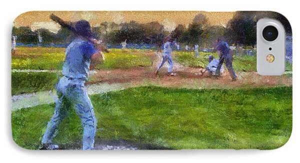 Sports Baseball On Deck Photo Art IPhone Case by Thomas Woolworth