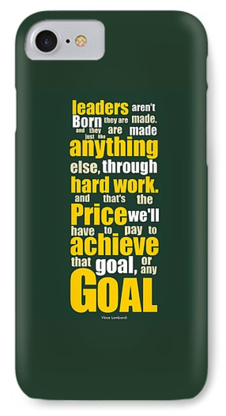 Sports Quotes Poster IPhone Case by Lab No 4 - The Quotography Department