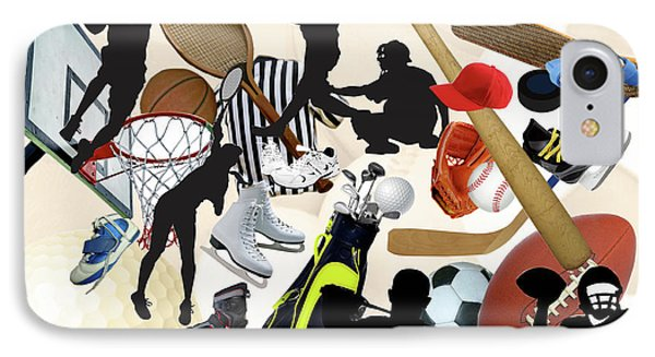 Sports Sports Sports Phone Case by Susan  Lipschutz