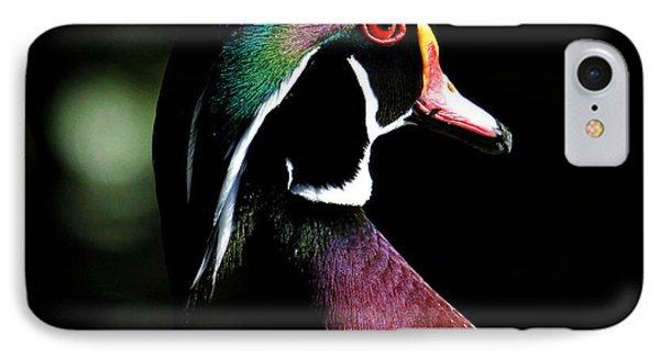Spotlight Wood Duck Phone Case by Steve McKinzie