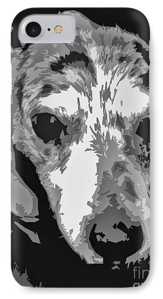 Spotted Dog Black And White Phone Case by Minding My  Visions by Adri and Ray