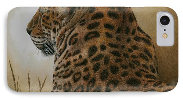 IPhone Case featuring the painting Spotted Elegance by Pat Erickson