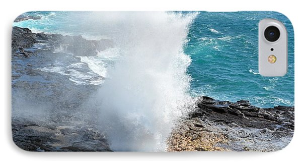 Spouting Horn In Kauai IPhone Case by P S