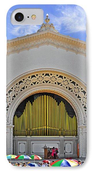 Spreckles Organ San Diego IPhone Case by Christine Till