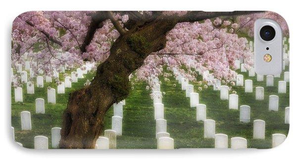 Spring Arives At Arlington National Cemetery Phone Case by Susan Candelario