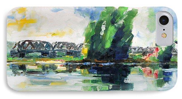 Spring At River Elbe Near Doemitz Germany Phone Case by Barbara Pommerenke